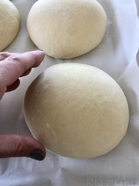 bread bowls in middle of raising