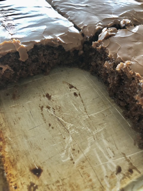 The BEST Easy Texas Sheet Cake | The Butcher's Wife