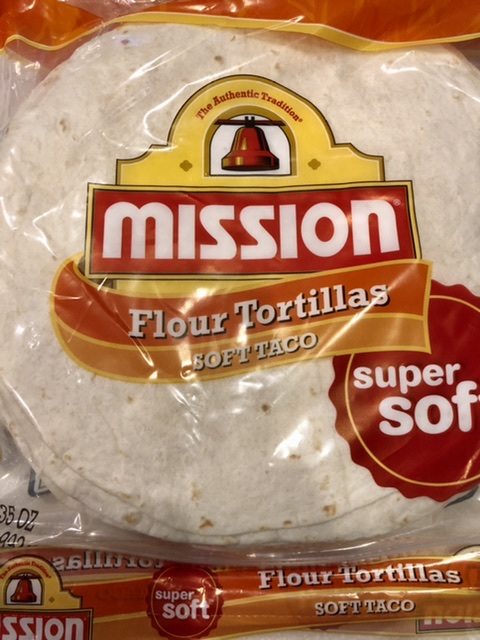 package of mission brand flour tortillas for buffalo ranch chicken taquitos