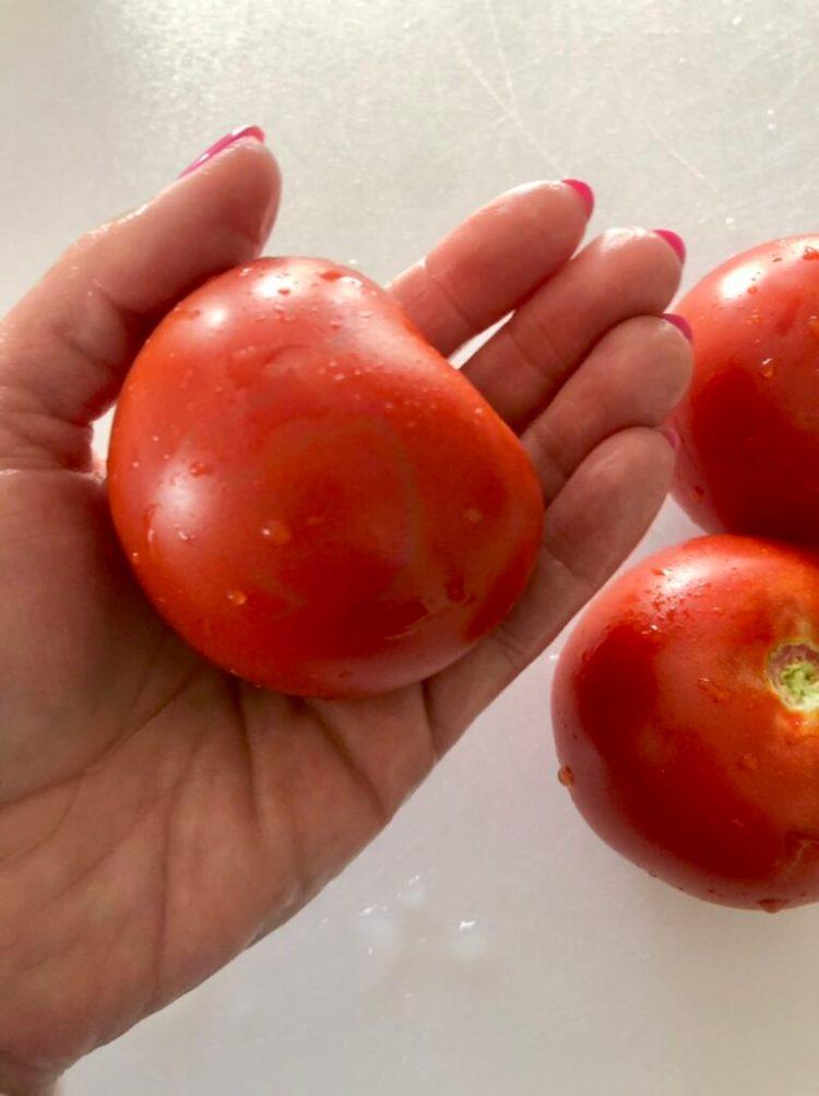 small/medium tomatoes for BLT pasta salad