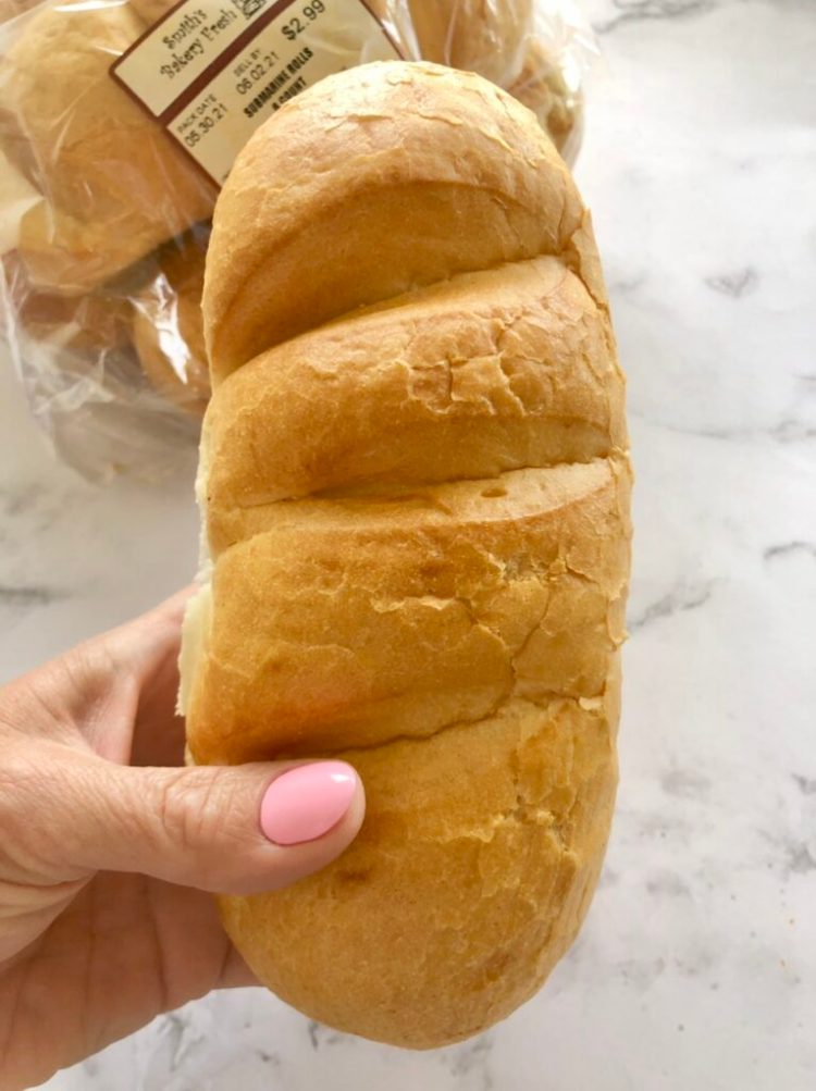 soft hoagie roll for French Dip in the slow cooker