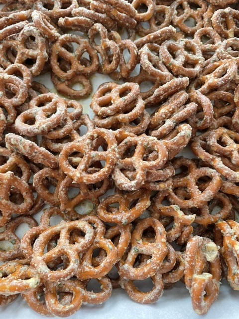 pretzels baked with butter ranch seasoning