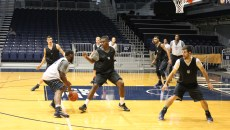 The team practices in Hinkle.