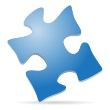 The puzzle piece is a nationally recognized symbol for autism awareness.