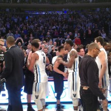 I was able to be on the court for the post-game celebration after the Big East Championship.