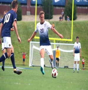 (Photo by Jimmy Lafakis) Junior David Goldsmith leads the Butler men's soccer team with three goals in four games this season.