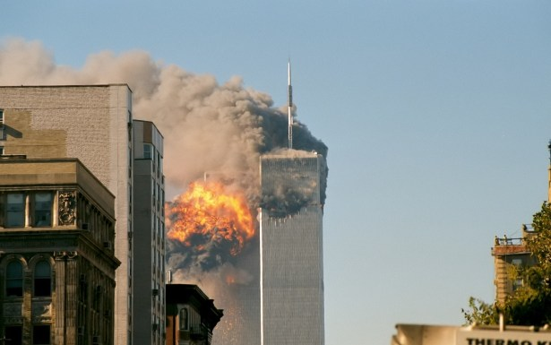 The twin towers on the Sept. 11, 2001. Photo courtesy of Wikimedia Commons