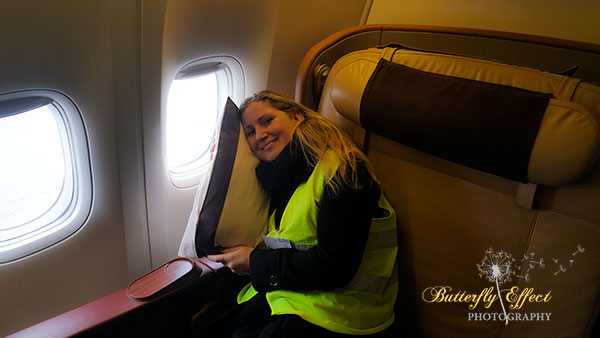 dreaming to fly in the First class