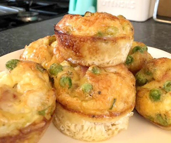 Ham Pea Egg Muffins The Butterfly Mother