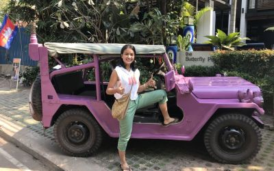 The Butterfly Pea and Lavender Jeep Siem Reap