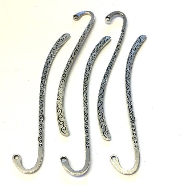 Silver metal bookmark findings