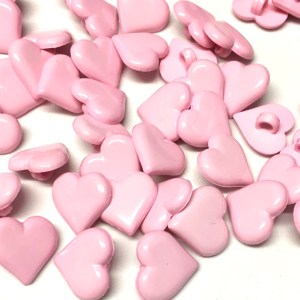 pink heart shaped buttons Archives - The Button Shed