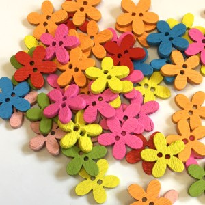 mixed flower buttons