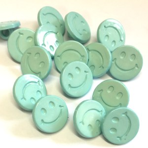 turquoise smiley face