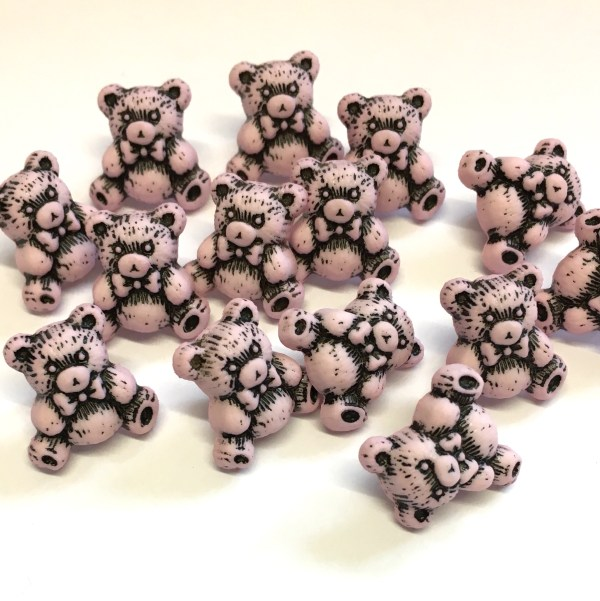 pink teddy buttons