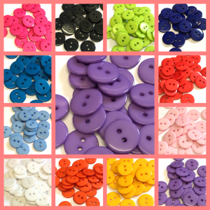 colourful round buttons
