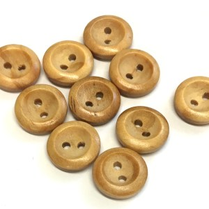 14mm wood buttons