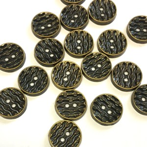 aged bronze metal buttons