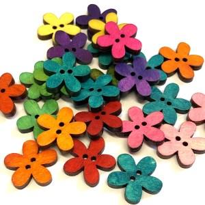 mixed flower buttons