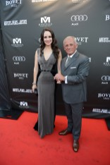 Madeleine Stowe and Pascal Raffy arrive at the Artists for Peace and Justice Festival Gala co-presented by Audi Canada at Casa Loma during the Toronto International Film Festival.