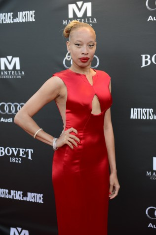 Stacey McKenzie arrives at the Artists for Peace and Justice Festival Gala co-presented by Audi Canada at Casa Loma during the Toronto International Film Festival.