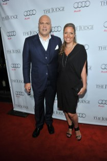 Vincent D'Onofrio arrives at Montecito Restaurant for the film party presented by Audi after the special presentation screening of The Judge during the Toronto International Film Festival.