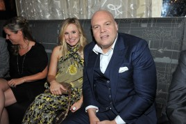 Kristen Bell and Vincent D'Onofrio at Montecito Restaurant for the film party presented by Audi after the special presentation screening of The Judge during the Toronto International Film Festival.