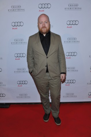 Johann Johannsson arrives at Patria for the film party presented by Audi after the special presentation screening of The Theory of Everything during the Toronto International Film Festival.