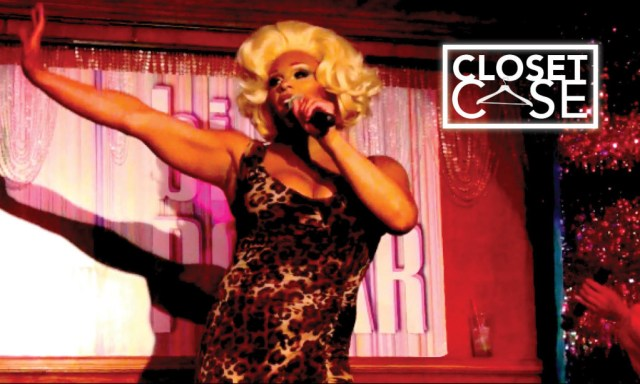 CoHost Peppermint serves it up at Sherry Vine's weekly show BiPolar at Therapy bar.