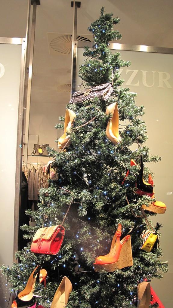 Azzurro Christmas Shoes Tree Window Display Best