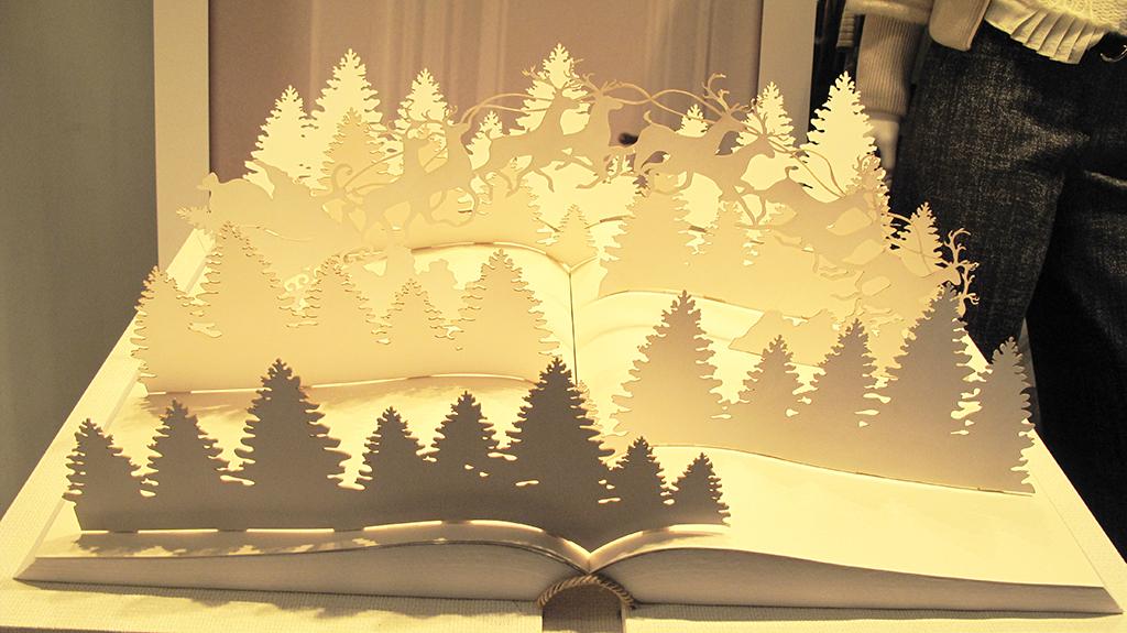Trussardi Pop Up Book Christmas Window Display 2013