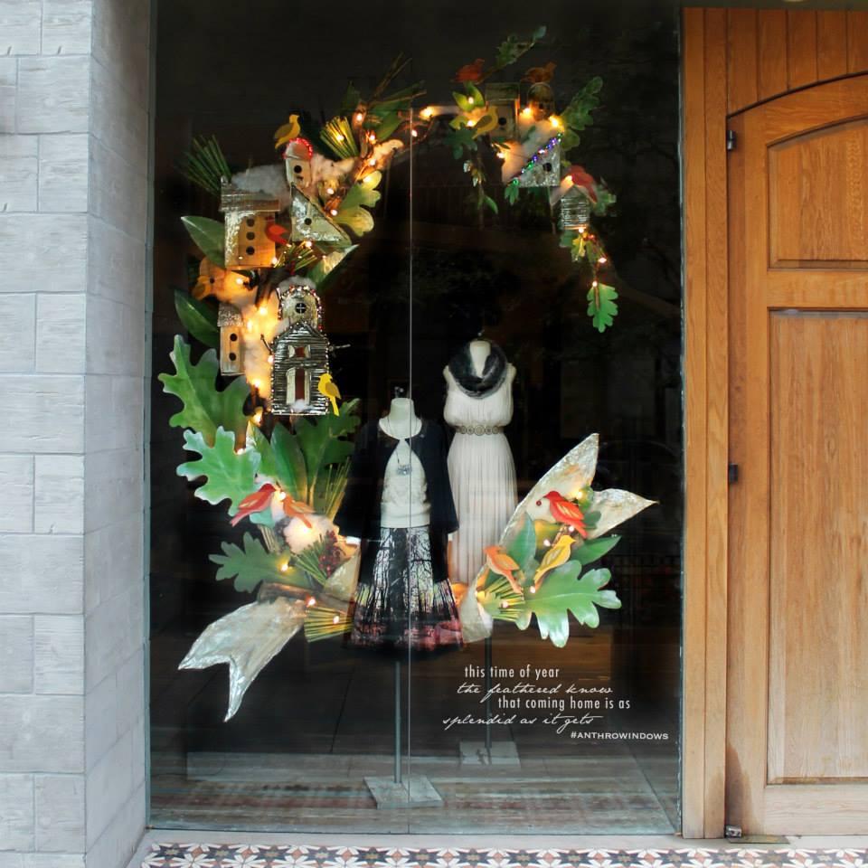 Anthropologie Birdies Holiday Window Display 2014 Best