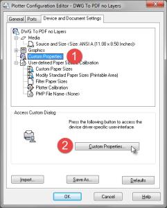 Custom Plotter Configuration