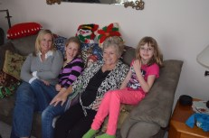 Carrie, Ava, Aunt Barb and Abby