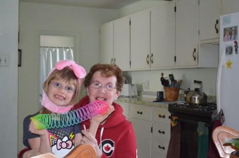 Abby having fun with Grandma