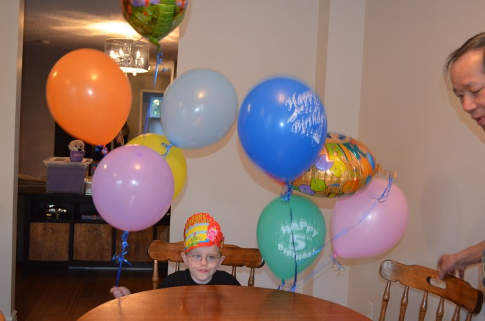 Celebrating his 5th birthday