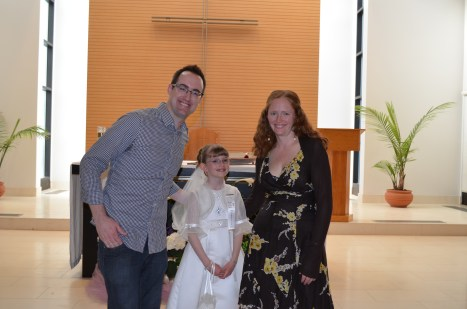 Abby with her Godparents Rob and Julie