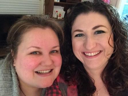 Megan and Melissa selfie!!!!