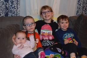 L-R: Eva, Aiden, Abby, and Macklan