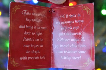 This is attached to the Christmas Key that Auntie Cathy gave us in 2009.