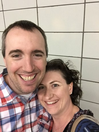 Selfie while waiting for the subway