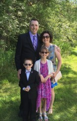 Peter, Melissa, Abby & Aiden after the wedding.