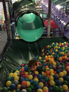 Macklan in the ball pit