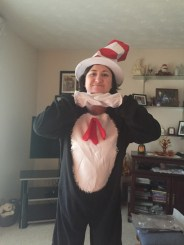 Melissa in her Cat in The Hat Costume