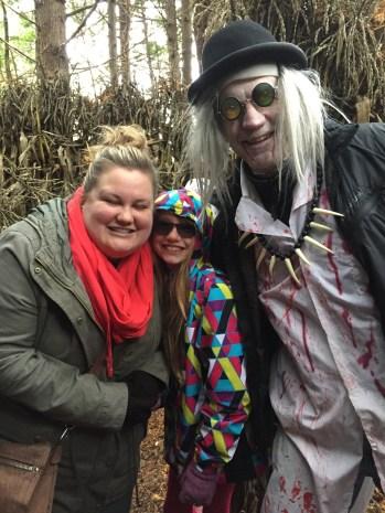 Megan, Abby & the Scarecrow at the Pumpkin Farm