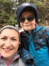 Mom & Aiden selfie @ the Pumpkin Farm