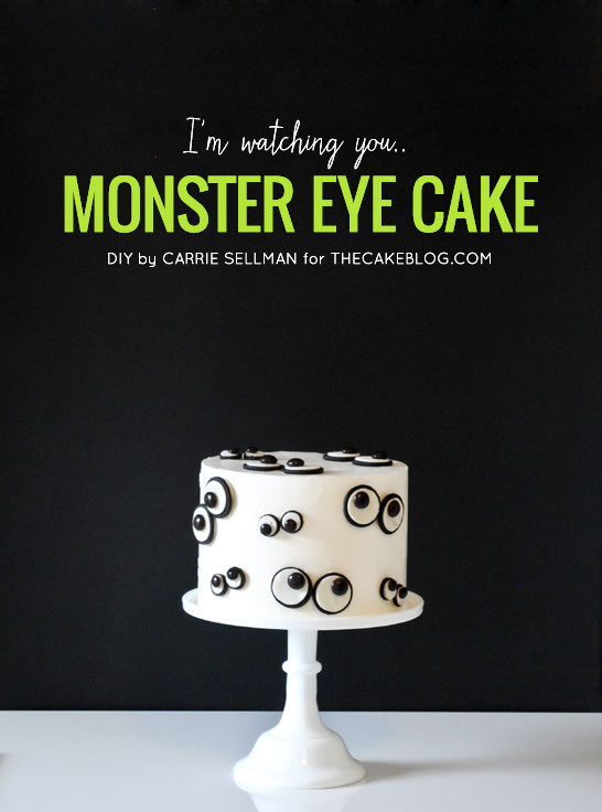 Super easy Monster Eye Cake for Halloween | by Carrie Sellman for TheCakeBlog.com