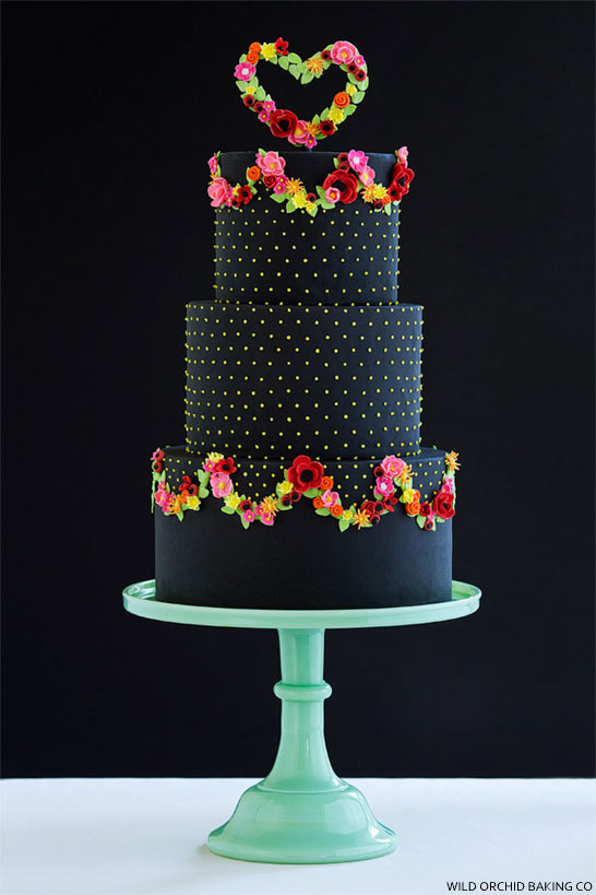 Black Iced Wedding Cakes For The Bold Bride We This Moncheribridals Com