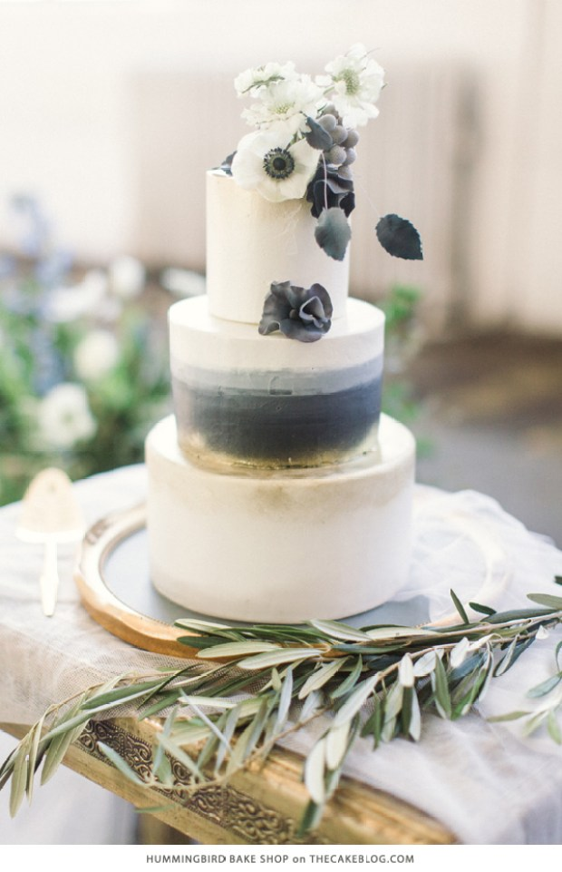 10 Watercolor Cakes | including this design by Hummingbird Bake Shop  | on TheCakeBlog.com