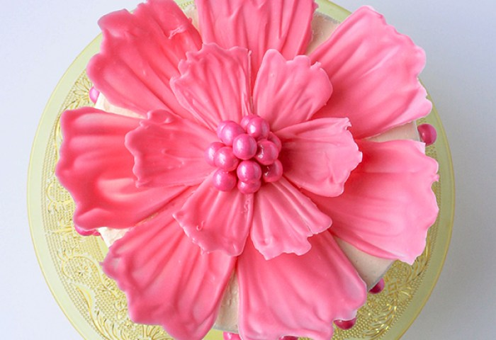 Chocolate Flower Cake